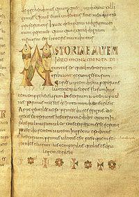 Isidoro_di_siviglia,_etimologie,_fine_VIII_secolo_MSII_4856_Bruxelles,_Bibliotheque_Royale_Albert_I,_20x31,50,_pagina_in_scrittura_onciale_carolina