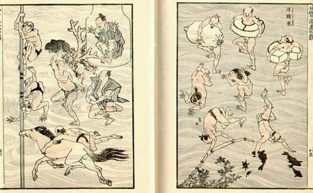 Hokusaimangabathingpeople